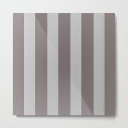 Warm Gray Stripes Metal Print