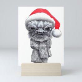Christmas Ostrich red G145 Mini Art Print