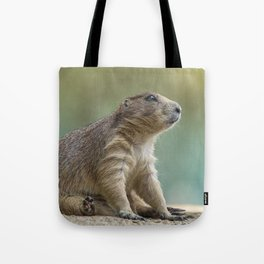 Praire dog sitting in the sun Tote Bag