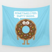 depression Wall Tapestries featuring It's Not All Rainbow Sprinkles... by David Olenick