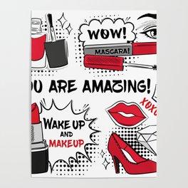 Make up background design Poster