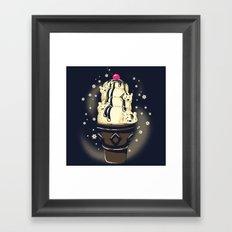 Ice Cream Bears (Dark Blue) Framed Art Print