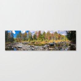 Fall on the Carrabassett (3) Canvas Print