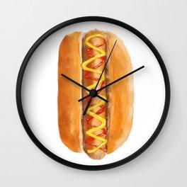 Hot Dog in a Bun Wall Clock