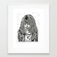 ramones Framed Art Prints featuring Joey  by Travis Poston