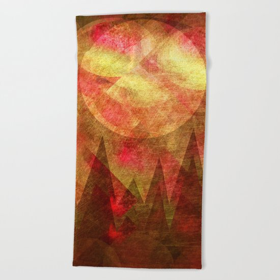 Scattered Moon Beach Towel