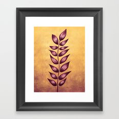Abstract Plant With Purple Leaves Framed Art Print