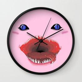 Pixel Kirby Face Wall Clock