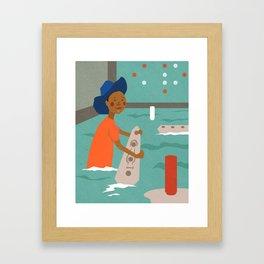 Battleship Cheater Framed Art Print