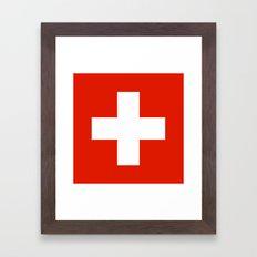 Switzerland country flag Framed Art Print
