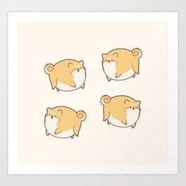 Chubby Roung Shibes Art Print