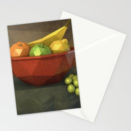 Low-polygon style still life painting Stationery Cards