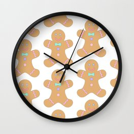 Pattern Christmas biscuits pastries Wall Clock