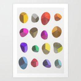 Painted Pebbles 2 Art Print