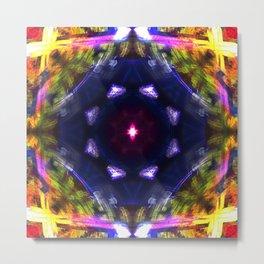 Bright Lighted Kaleidoscope  Metal Print