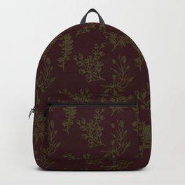 Wild Botanicals, Vintage Flowers, Vintage, Abstract, Art-Noveau Backpack