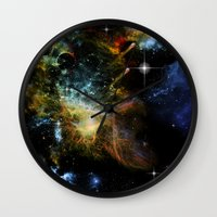 universe Wall Clocks featuring Universe by nicky2342