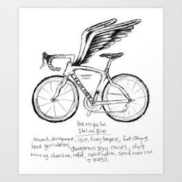 Live, Breathe, Bike Art Print