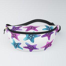 Colorful Galaxy Sea Star - Watercolor Starfish Fanny Pack
