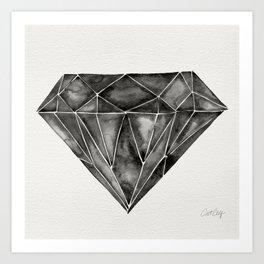 Black Diamond Art Print