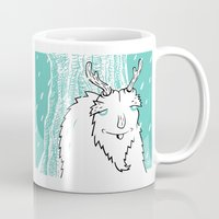 yeti Mugs featuring Yeti by Nathan Bortz