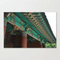 korean Canvas Prints featuring Korean Roof by HaNuel Jeon