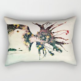 Earthy Medusa Roots Rectangular Pillow