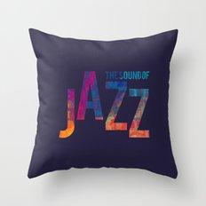 Jazz Color Throw Pillow
