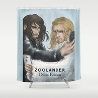 fili Shower Curtains featuring Zoolander Durins Edition by AlyTheKitten