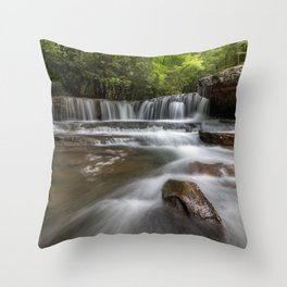 Down Low on Mash Fork, Camp Creek, WV Throw Pillow