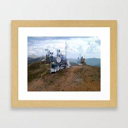 The Antenna Farm Atop Monarch Ridge, at 12,013 feet Framed Art Print