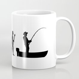 The Evolution Of Man And Fishing Coffee Mug