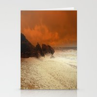 aelwen Stationery Cards featuring Sea Foam & Rough Seas by Chris' Landscape Images & Designs