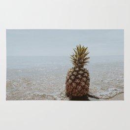 pineapple at the beach iii Rug