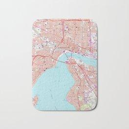 Vintage Map of Jacksonville Florida (1964) Bath Mat