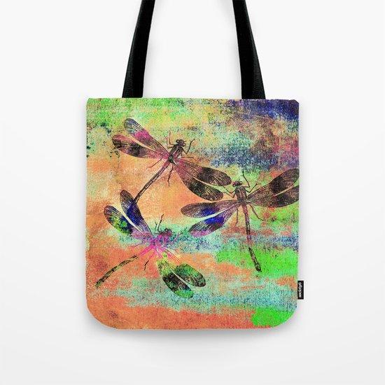 Mauritius Vintage Dragonflies Colours C Tote Bag