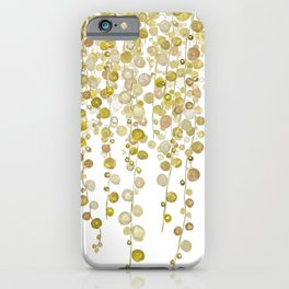 golden string of pearls watercolor 2 iPhone Case
