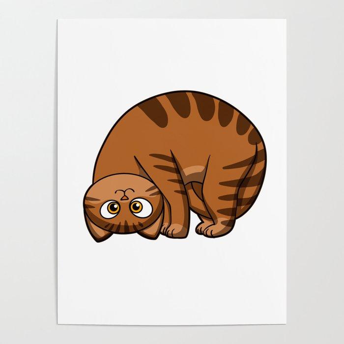 Funny Cats Fat Cat Cat Cartoon Poster By Marios Society6