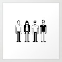 pixies Art Prints featuring Pixies by Band Land