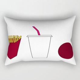 Aqua teen hunger force minimalist  Rectangular Pillow