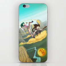 A ride with Son Goku iPhone & iPod Skin