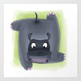 H for Hippo Art Print
