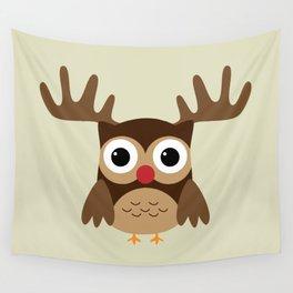 Reindeer Owl Wall Tapestry
