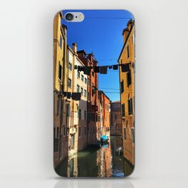 Laundry Day in Venice iPhone Skin
