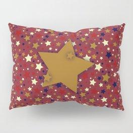Gold Star Red Pillow Sham