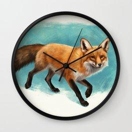 Fox walk Wall Clock