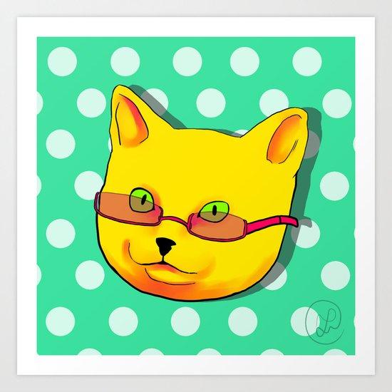 Pop Cat Art Print