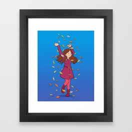 Autumn Whirlwind (Blue) Framed Art Print