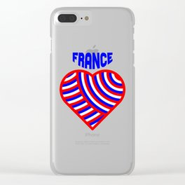 j'aime la france Clear iPhone Case