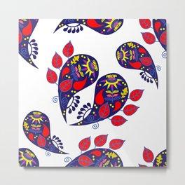 Paisley pattern #2W Metal Print